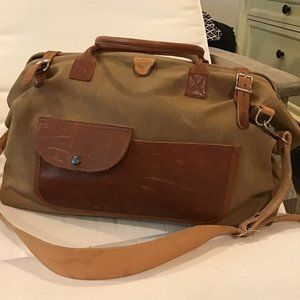 Beautiful Leather FleaBags Duffle Overnight Bag